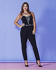 Simply Be Lace Detail Jumpsuit