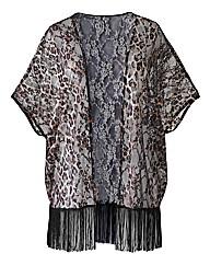 AX Paris Leopard Lace Kimono