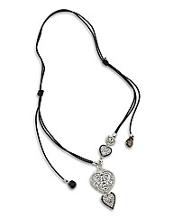 Malissa J Heart Drop Charm Necklace