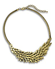 Malissa J Leaf Effect Short Necklace