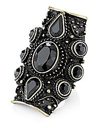 Petal Dolls Black Crystal Ring
