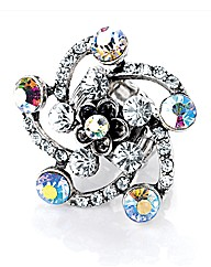 Petal Dolls Multi Flower Crystal Ring