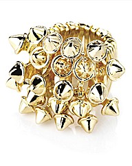 Petal Dolls Gold Spike Ring