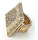 Petal Dolls Gold Pyramid Ring