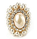 Petal Dolls Gold Pearl Ring