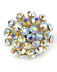 Petal Dolls Gold Multi Crystal Ring