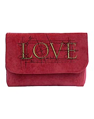 Spencer Ogg Love Embroidered Clutch Bag