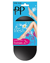 Pretty Polly 4 Pack Silverfresh Footsies