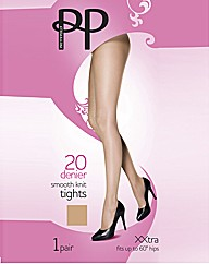 Pretty Polly Smooth Knit Tights XXL