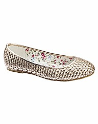 Simply Be Woven Pumps E Fit