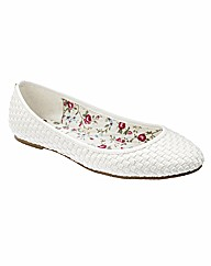Simply Be Woven Pumps EEE Fit