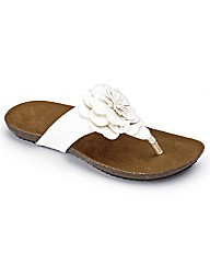 Simply Be Flower Toe Post EEE Fit