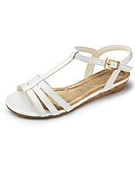Simply Be Strappy Low Wedge E Fit