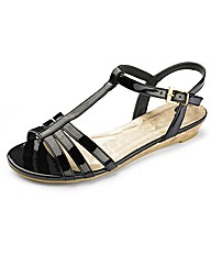 Simply Be Strappy Low Wedge EEE Fit