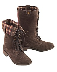 Joe Browns Lace Up Mid Calf Boots E Fit