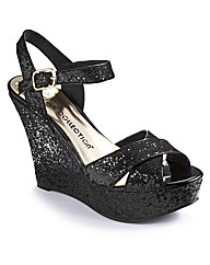 Simply Be Glitter Wedge E Fit