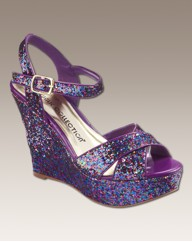 Simply Be Glitter Wedge D Fit