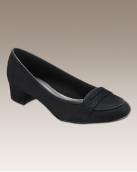 Simply Be Block Heel Court E Fit