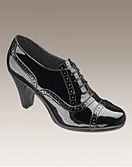 Heavenly Soles Lace Up Brogue Shoes EEE