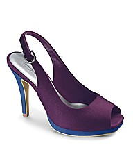 Simply Be Peep Toe Platform E Fit