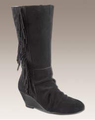 Simply Be Wedge Fringe Boots E Fit