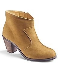 Simply Be Plain Cowboy Ankle Boot E Fit