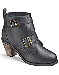 Simply Be Double Buckle Ankle Boots E