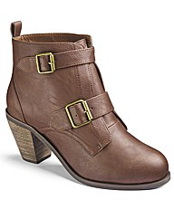 Simply Be Buckle Ankle Boots EEE Fit