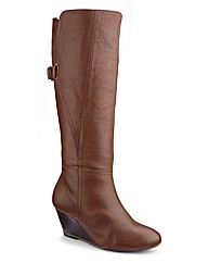 Legroom Wedge Boot E Fit Standard Calf
