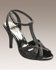 Simply Be Glitter Twist Sandal E Fit