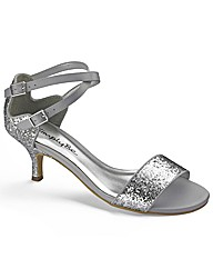 Simply Be Glitter Sandal E Fit