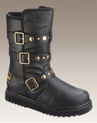 Golddigga Studded Strappy EEE Fit Boots