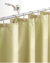 Faux Silk Shower Curtain