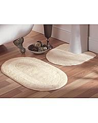 Reversible Bathroom Mat Set