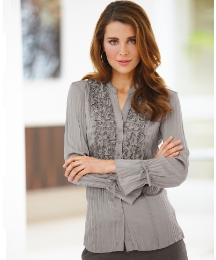Gerry Weber Crinkle Blouse With Applique