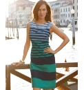 Betty Barclay Cotton Mix Stripe Dress