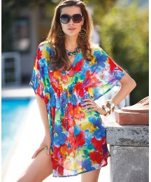 Seaspray Sheer Chiffon Kaftan