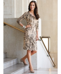 Apanage Leopard Print Jersey Dress