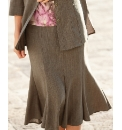 Gray & Osbourn Linen Look Panelled Skirt