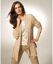 Gray & Osbourn Ribbed Cardigan