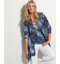 Chesca Jersey Jacquard Cardigan