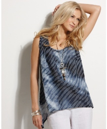 Chesca Jersey Jacquard Sleeveless Top