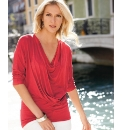 Anise Draped Neckline Jersey Tunic