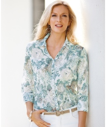 Gerry Weber 3/4 Sleeve Cotton Shirt