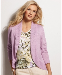 Gelco Fine Knit Cardigan With Rib Trims