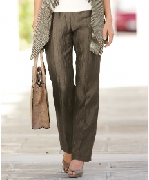 Gerry Weber Crinkle Linen Rich Trousers