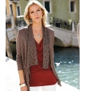 Anise Waterfall Crochet Trim Cardigan