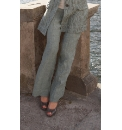 Sulu Crinkle Linen Mix Trousers