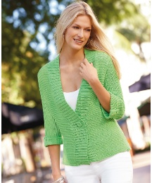 Betty Barclay Ribbed 3/4 Sleeve Cardigan
