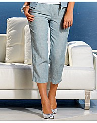 Olsen Cropped Linen Trousers